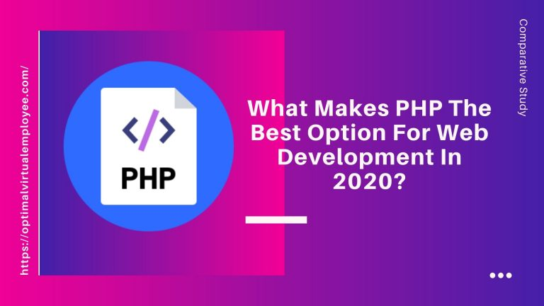 What Makes PHP The Best Option For Web Development In 2020
