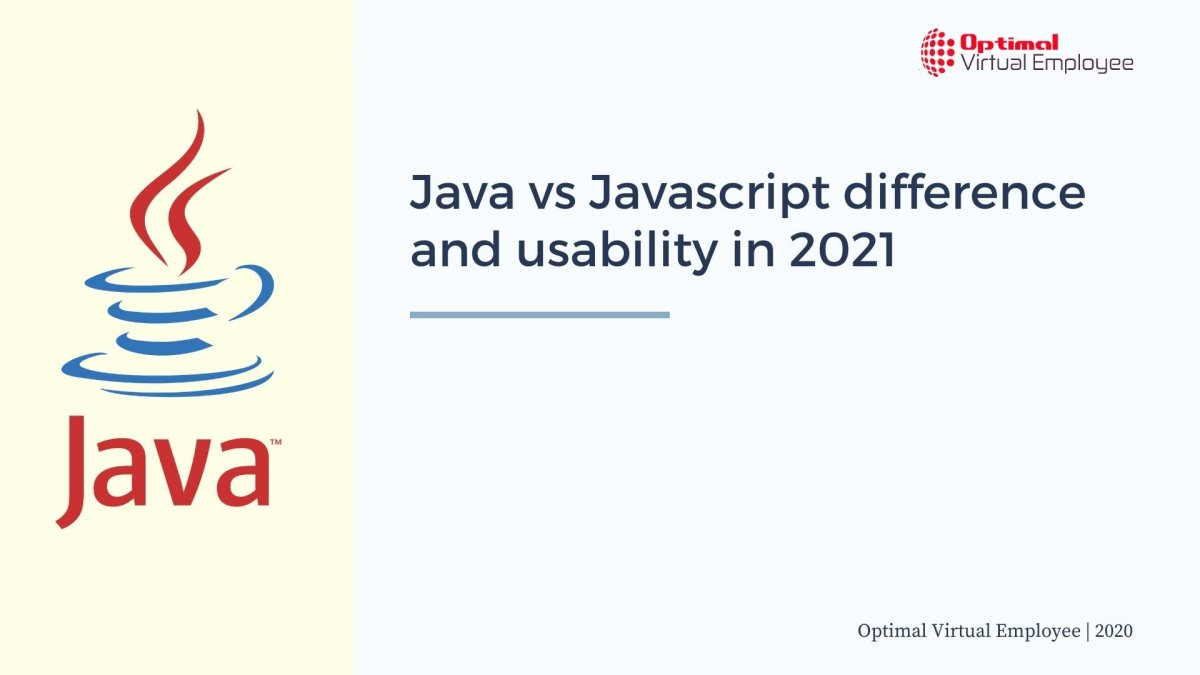 Java vs Javascript difference and usability in 2021